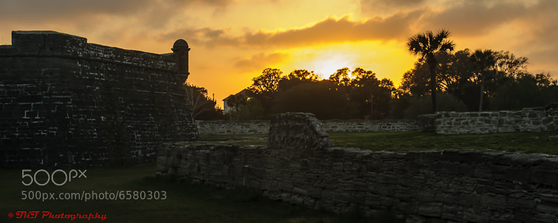 Photograph Castillo de San Marcos at Sunset by Ty  Tabata on 500px