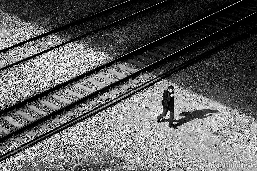 Photograph shadows and rails by David Pavlovic Dobrojevic on 500px