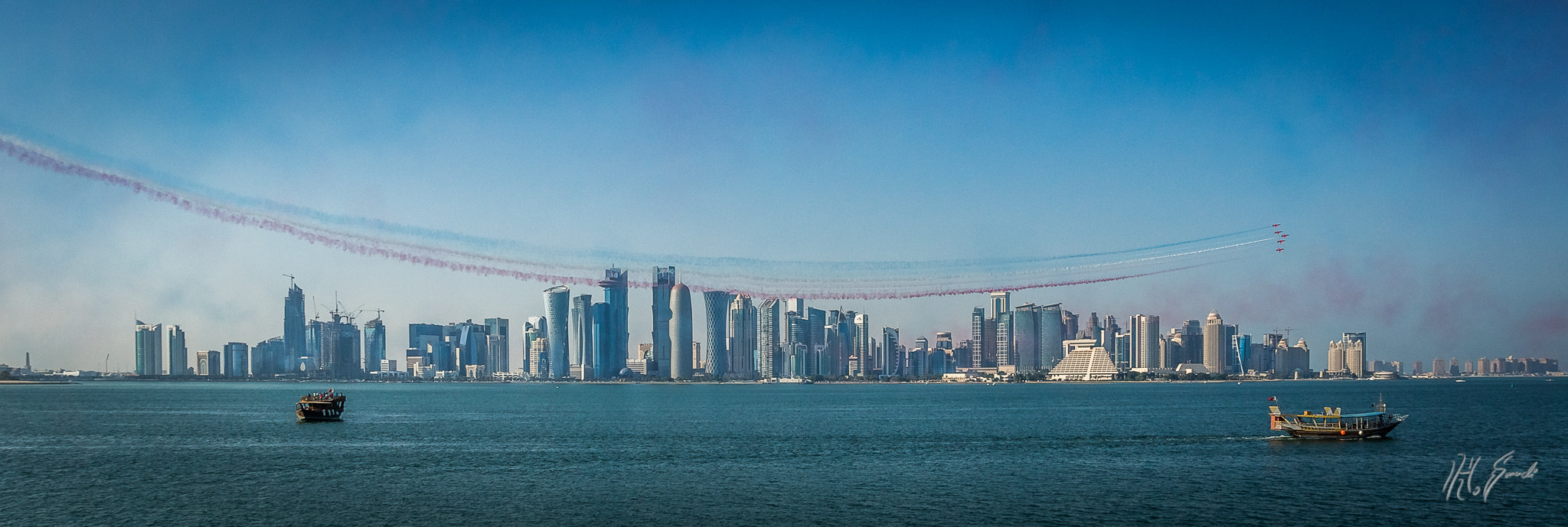 Photograph Red Arrows do Doha! by Haytham Smadi on 500px