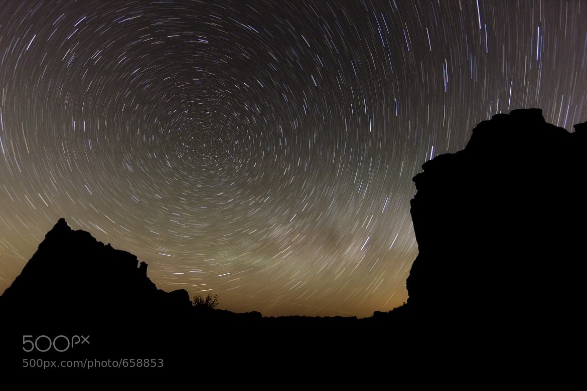 Photograph Moab Star Trails by Nicole S. Young on 500px