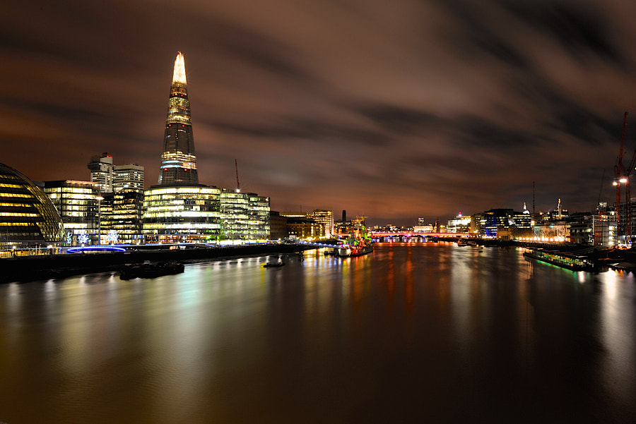 The Thames at night.