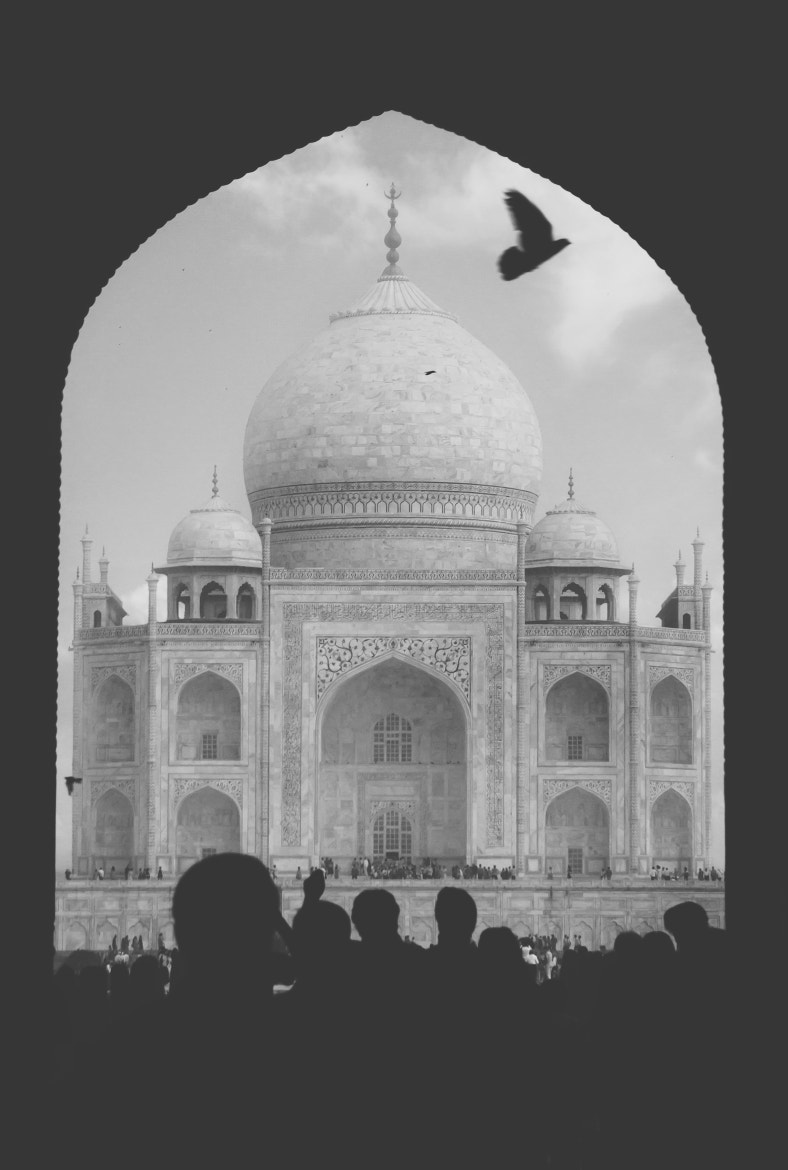 Photograph Taj Mahal with silhouettes from people by Leander Nardin on 500px