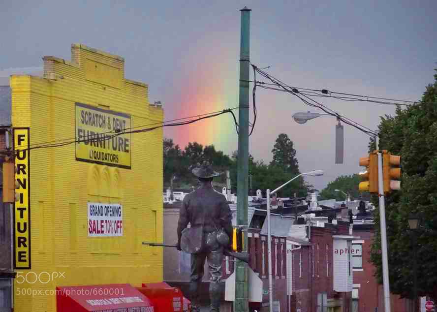 Photograph The rainbow of East Baltimore by Washington DC Photographer Marty Katz on 500px
