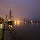 Постер, плакат: Downtown Savannah at Night