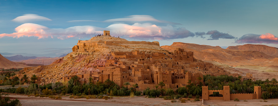 Photograph Lenticulars over Ait Ben Haddou by Jokin Romero on 500px