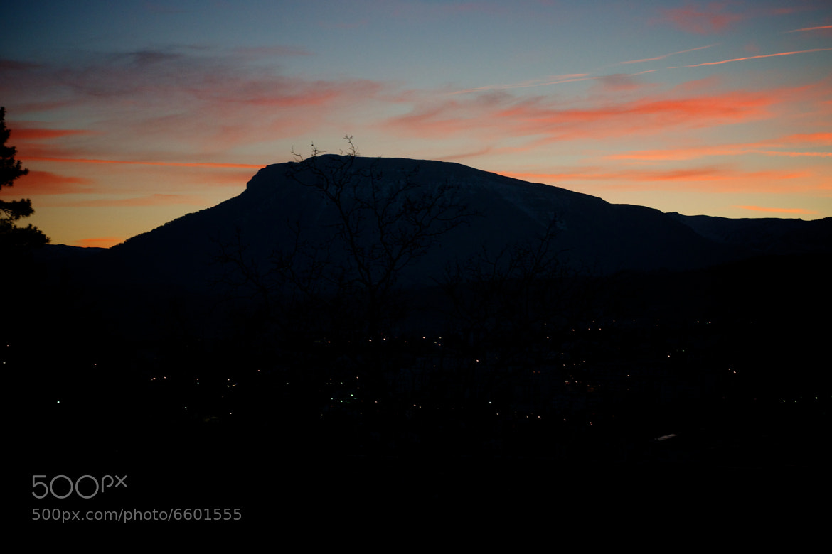 Photograph Gap -  Sunset over the mountain by Nicolas Erny on 500px