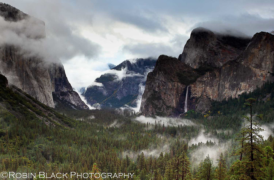 Misty Bridalveil Falls, Yosemite National Park by Robin Black on 500px.com