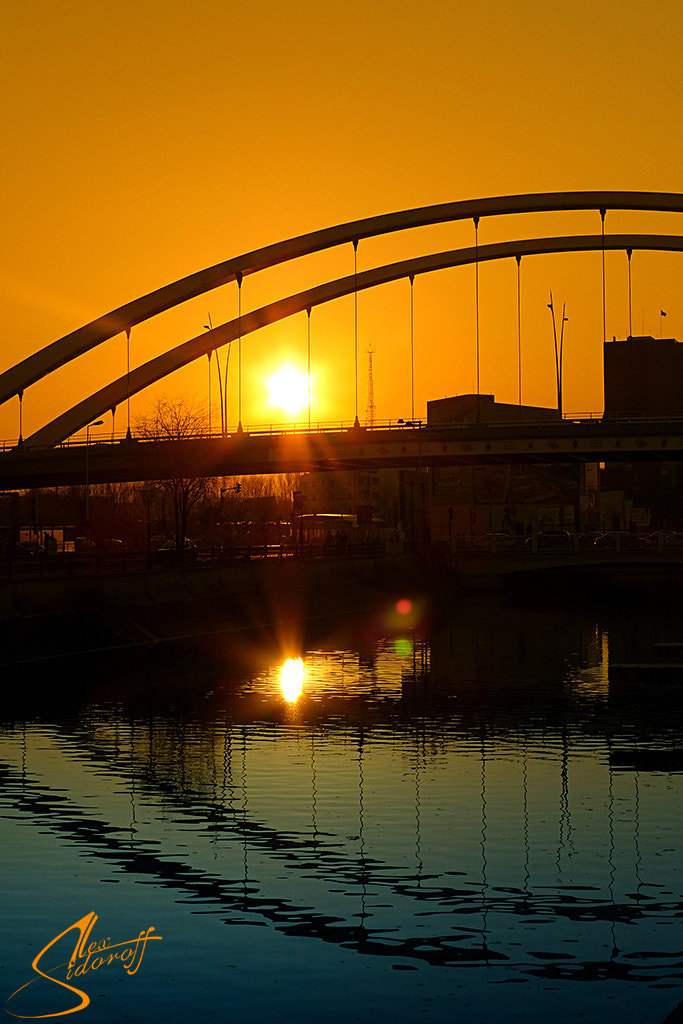 Photograph A sunset over new Basarab bridge in Bucharest by Alexander Sidorov on 500px