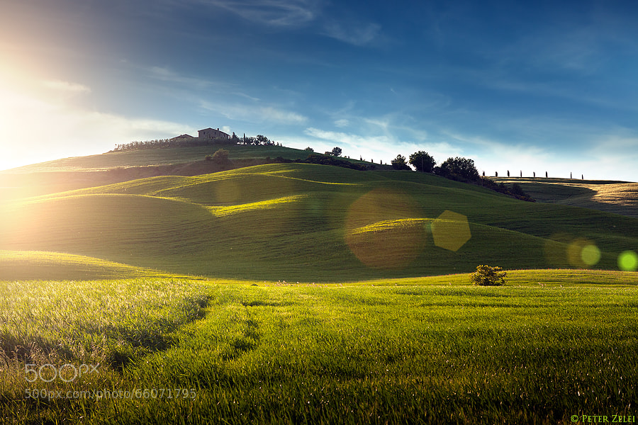 Photograph Sunset in Tuscany by Peter Zelei on 500px