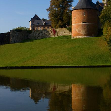 Kasteel van gaasbeek from behind