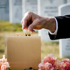 Постер, плакат: A final farewell at Arlington National Cemetery