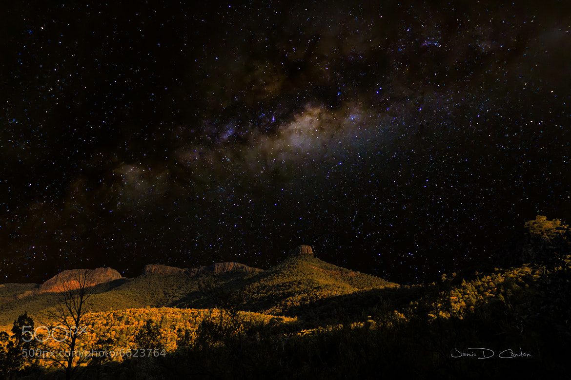 Photograph Milky Way over the Mountains by Jamie Condon on 500px