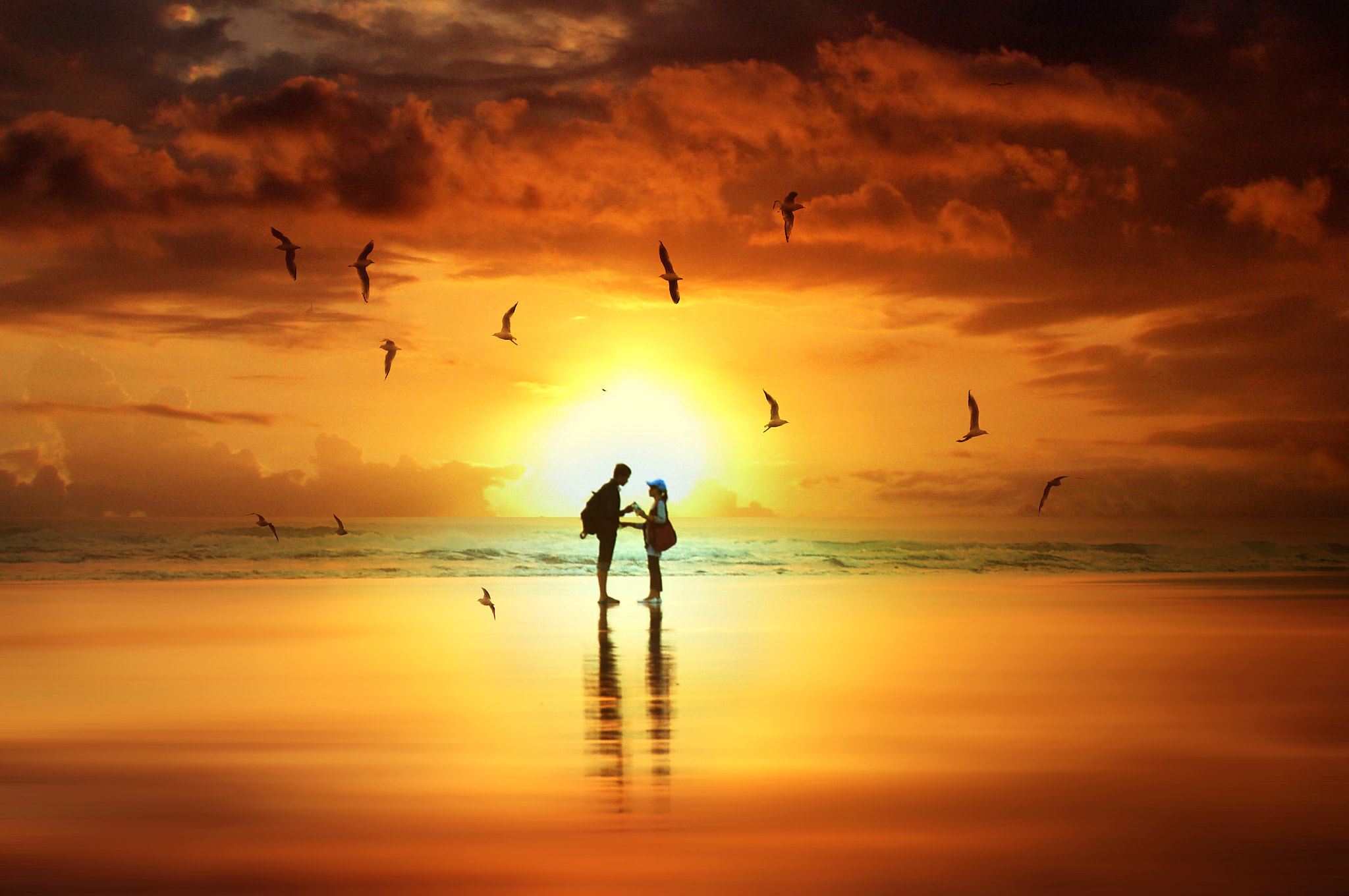 Photograph Sunset in love by 3 Joko on 500px