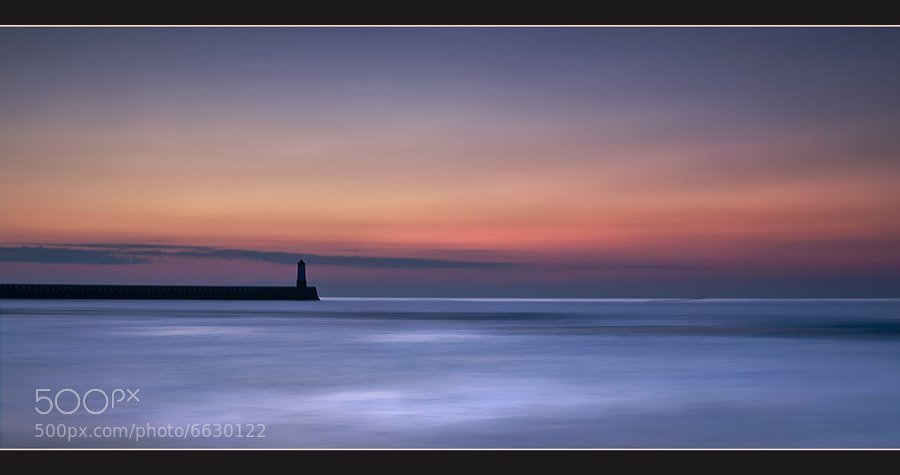 Berwick Lighthouse as seen from Spittal beach.
