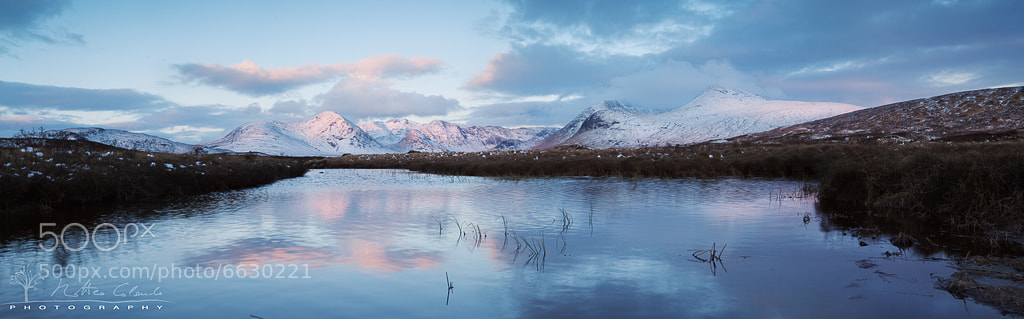 Photograph First light, Rannoch Moor by Matteo Colombo on 500px