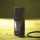And then the music goes by, and this red Bull was on the stage waiting...
