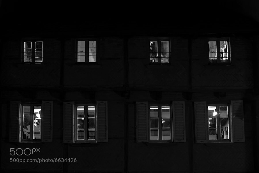 Windows in the night