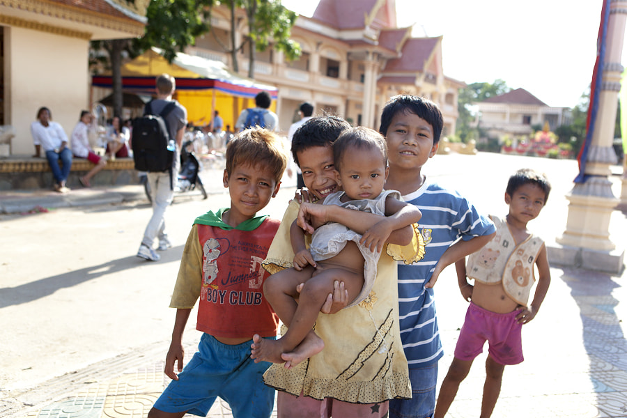 Photograph Cambodian Kids by Erlend Daae on 500px