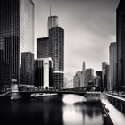 Постер, плакат: River View Chicago * 4x5 USA