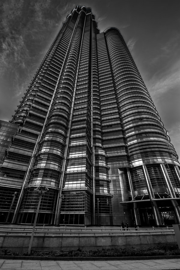 KLCC -Petronas Tower in B/W.