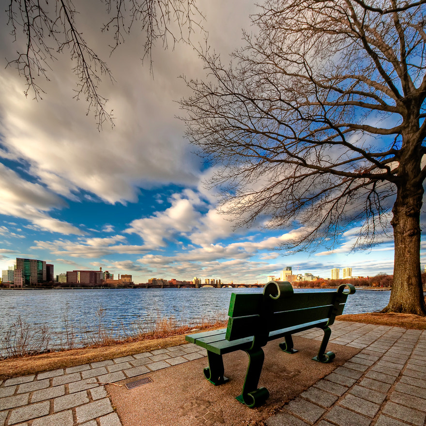 Photograph Park Bench on the Charles River by Brian Burt on 500px