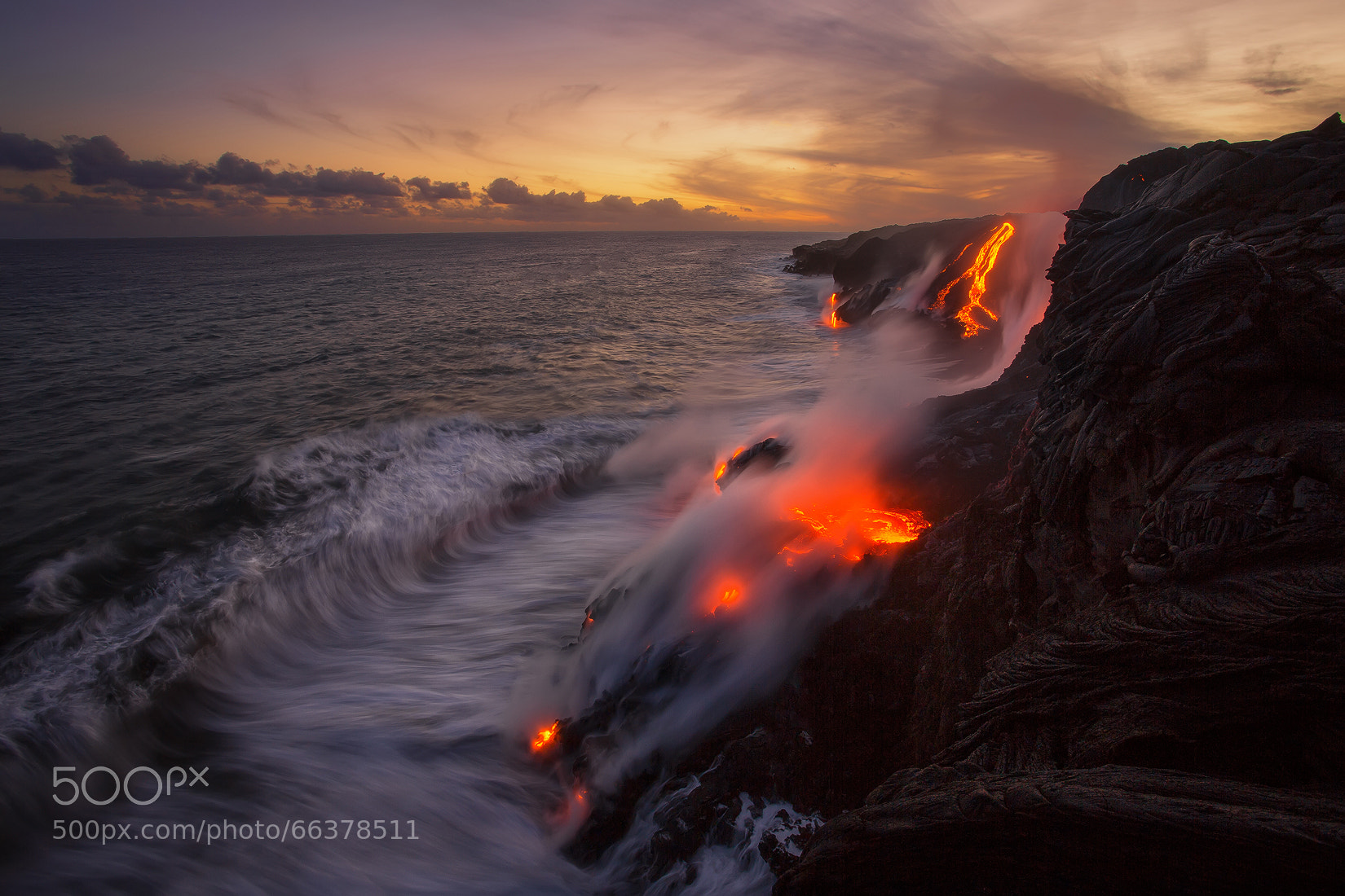 Interesting Photo of the Day: Where Lava Meets the Ocean