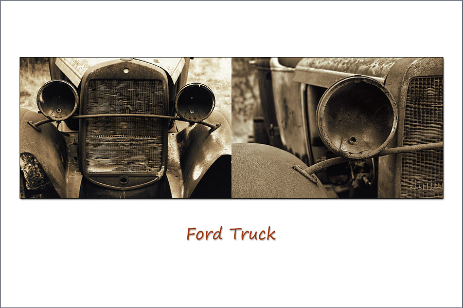 Diptych Series:  Antique Ford