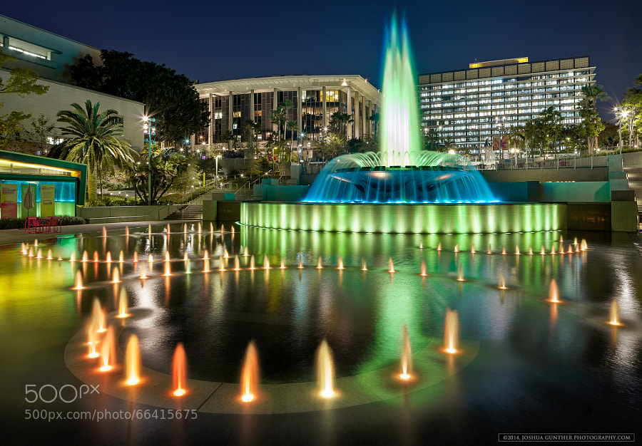 Photograph Grand Park Fountains - Los Angeles by Joshua Gunther on 500px