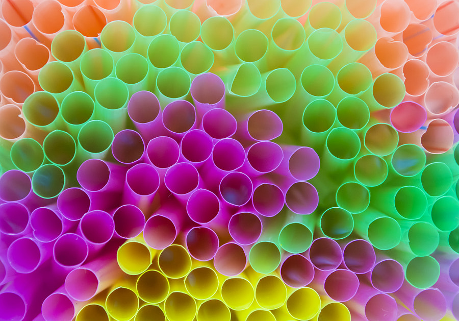 Photograph Colored Straws by Ahmed Kamal on 500px