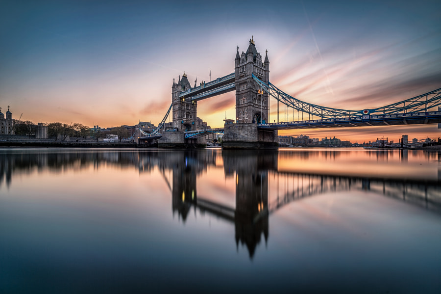 most beautiful cities in the world -Sunrise over the Tower Bridge by Yunli Song on 500px.com