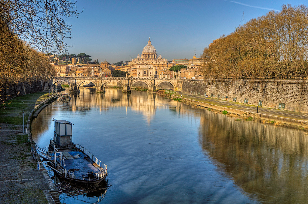 Photograph View from Ponte Umberto I toward St. Peters Basilica by Dieter Schaefer on 500px