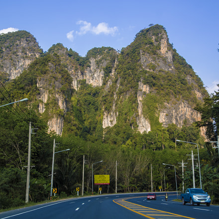 Road in Krabi, Thailand
