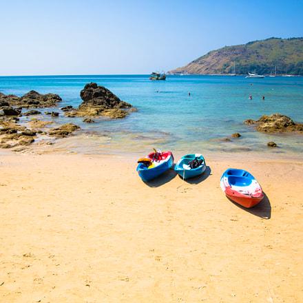 Kayaks on the beach, Phuket