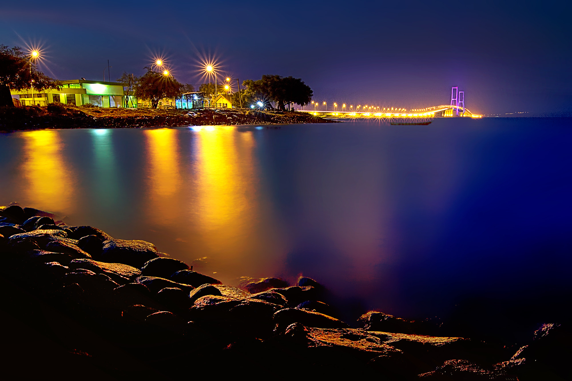 Photograph Suramadu Night by Eep Ependi on 500px