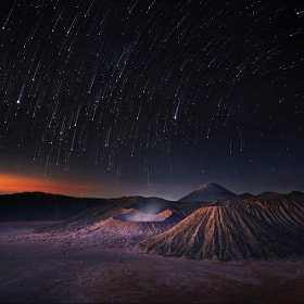 Bromo before sunrise.