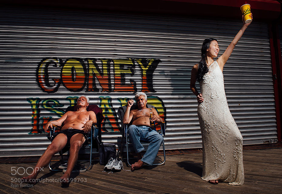 Photograph The Most Coney Island Wedding Photo Ever by Ryan Brenizer on 500px