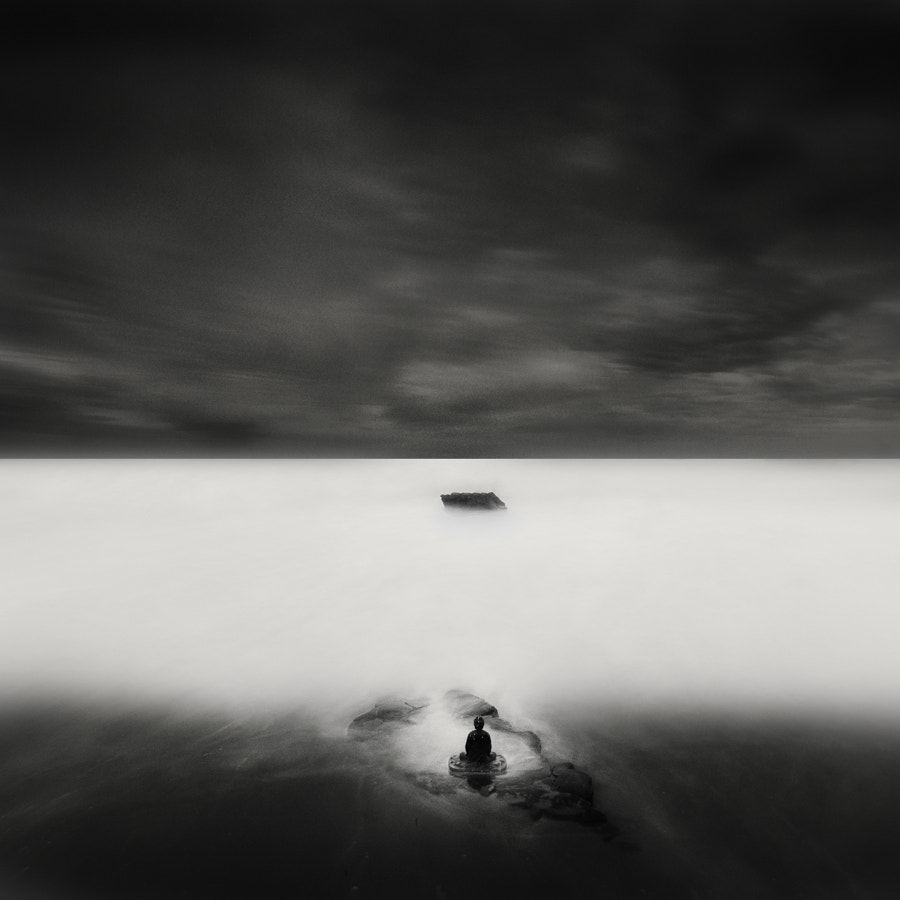 Photograph buddha & rock  by Nathan Wirth on 500px