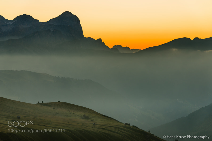 This photo was shot in the days before the Dolomites East September 2013 photo workshop at Passo Pordoi.