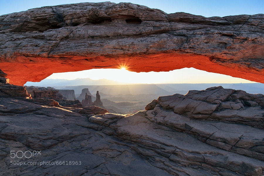 Photograph Mesa Arch at late Sunrise | Canyonlands NP, Utah, USA by Matthias Huber on 500px