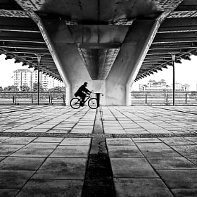 Cycling Under the Bridge -Putrajaya by Zulkifli Yusof on 500px.com