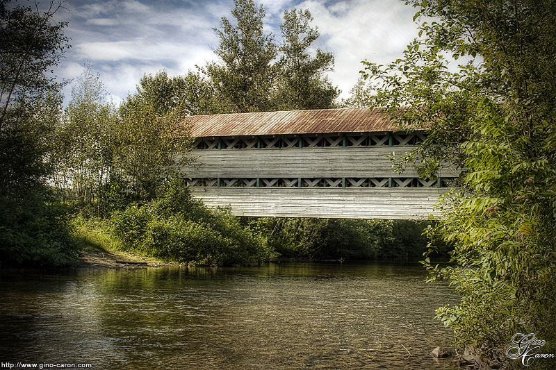 Photograph The Old Covered Bridge by Gino Caron on 500px
