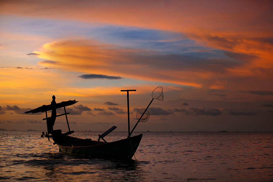 Photograph Cambodian sunset#4 by Mark Podrabinek on 500px
