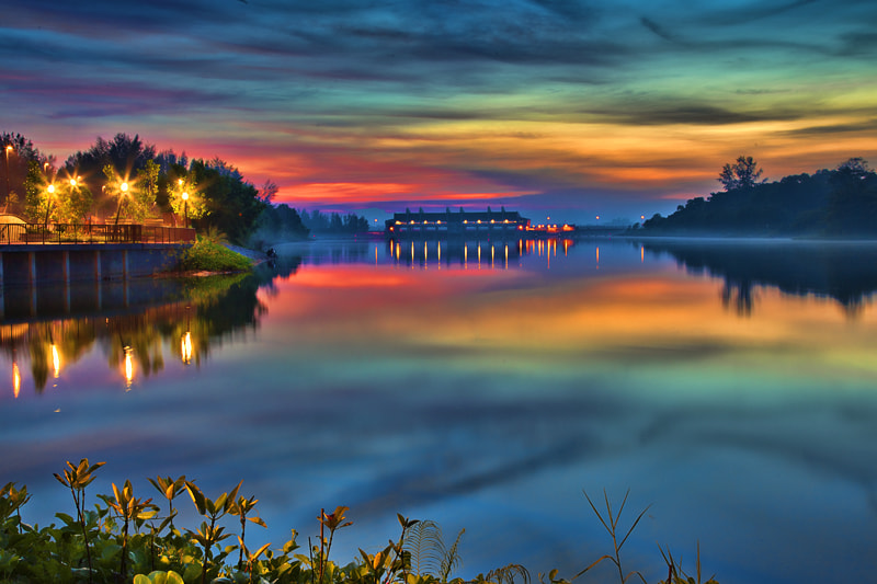 Photograph Fairytale Dawn at Lorong Halus, Singapore by Alan Tan on 500px