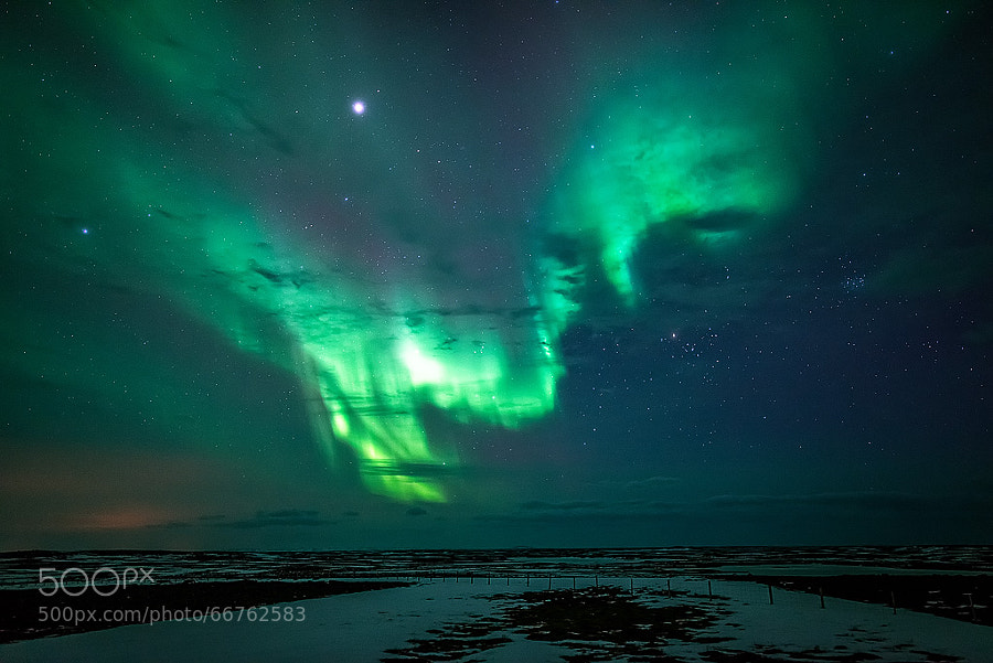 Photograph Aurora vs Light Pollution by Stian Rekdal on 500px