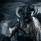 Постер, плакат: Skyrim Dragonborn is come