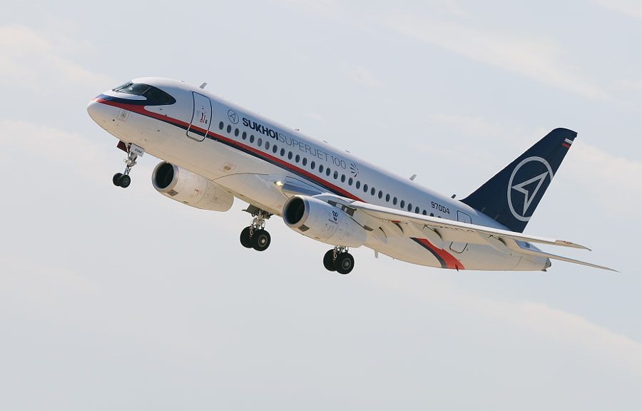 The Sukhoi Superjet 100. With development starting in 2000, the airliner was designed by the civil aircraft division of the Russian aerospace company Sukhoi in co-operation with its main partner Boeing. Its maiden flight was conducted on 19 May 2008. On 21 April 2011, the Superjet 100 undertook its first commercial passenger flight, on the Armavia route from Yerevan to Moscow.  The final assembly of the Superjet 100 is done by Komsomolsk-on-Amur Aircraft Production Association. Its SaM-146 engines are designed and produced by the French-Russian PowerJet joint venture and the aircraft is marketed internationally by the Italian-Russian SuperJet International joint venture.  Best wishes and have a nice Sunday,  Harry