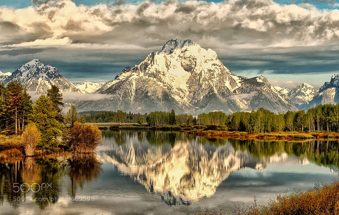 Photograph Cloud Cover at Oxbow Bend by Jeff Clow on 500px