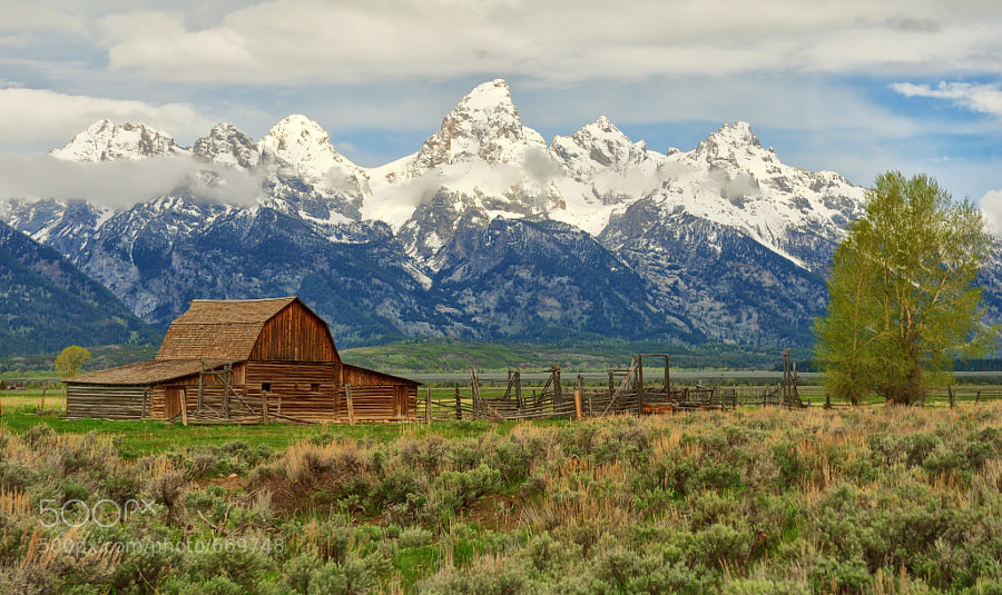 Photograph Northern Barn on Mormon Row by Jeff Clow on 500px
