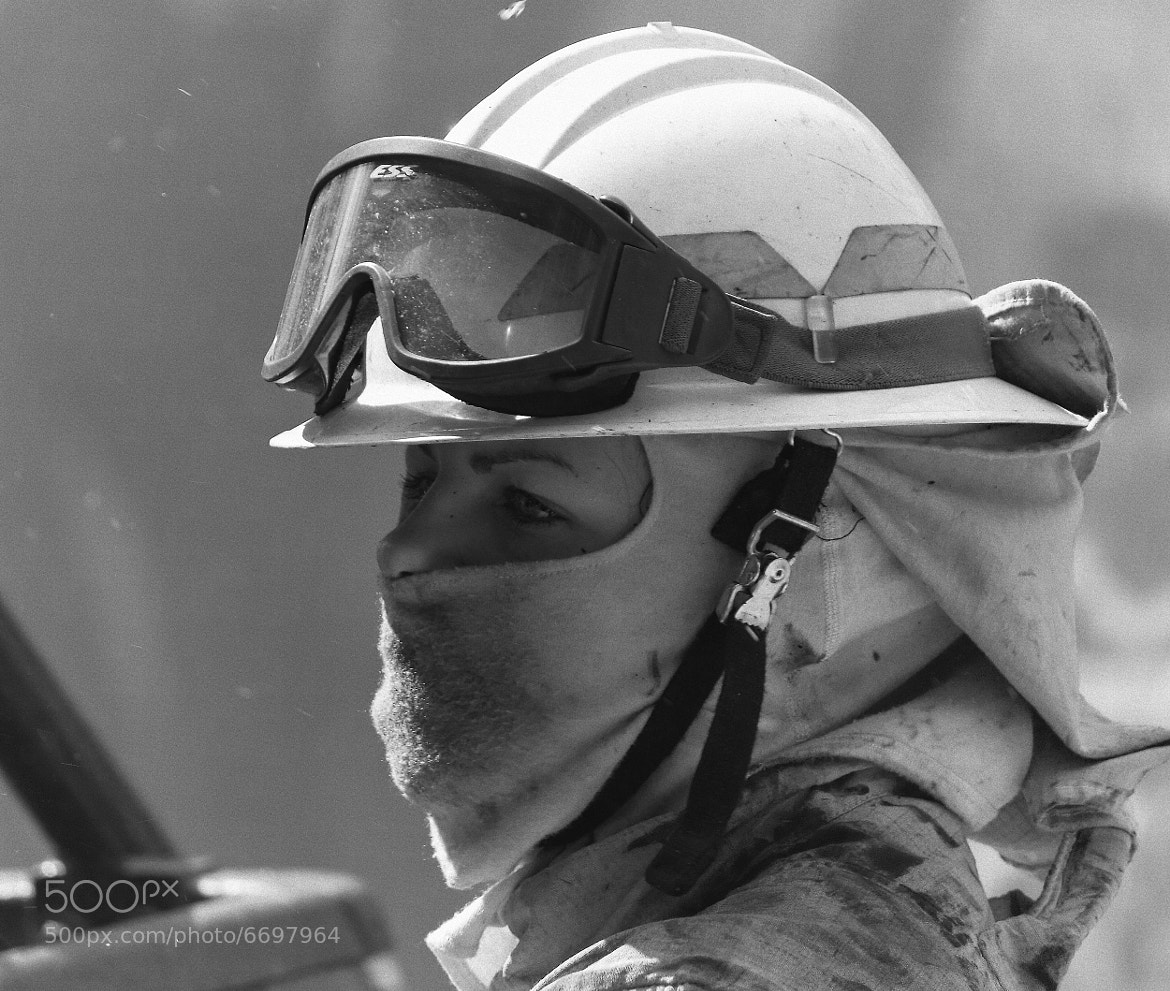 Photograph A lady firefighter II by Miguel Silva on 500px