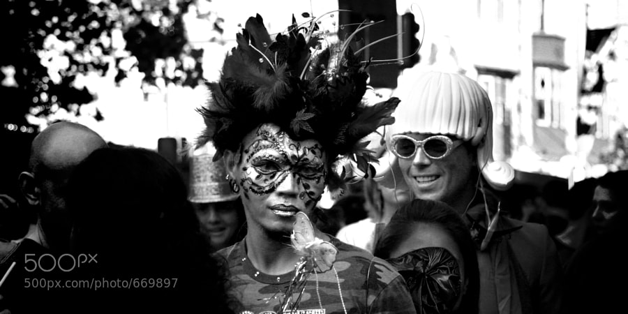 A snapshot of Sydney's Mardi Gras prior to the parade a couple of years ago.